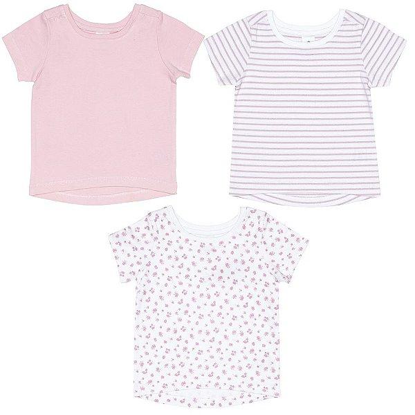 Kit 3 peças camisetas manga curta meia malha - Tip Top