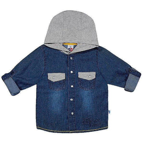 Camisa Manga Longa Toddler com capuz - Tip Top