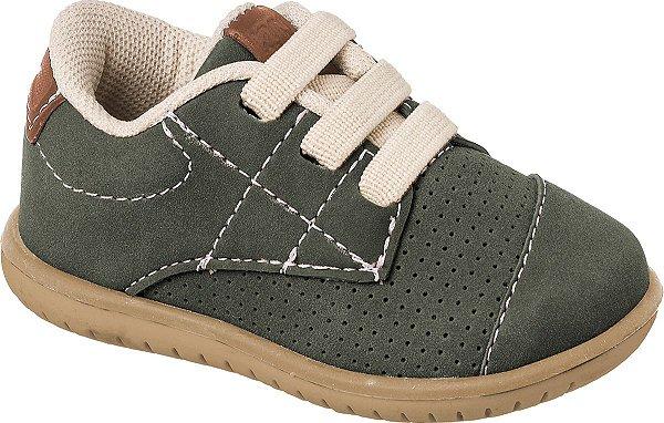 Sapato Cravinho Casual Militar/Caramelo - Klin
