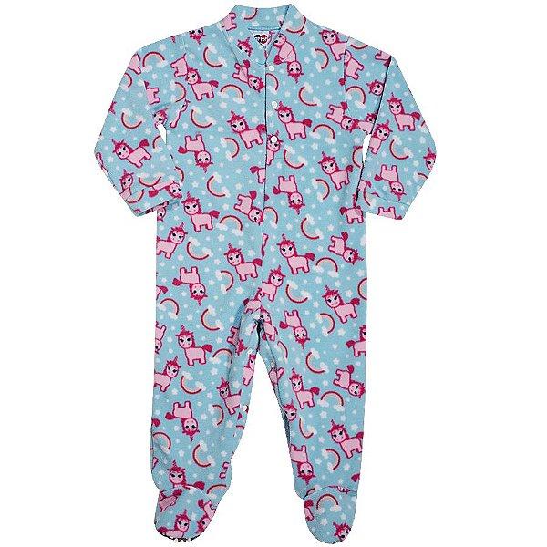Macacão Pijama Unicórnio em Soft - Tip Top