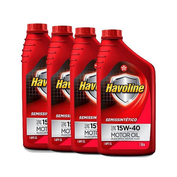 Kit 4L Óleo Havoline 15w40