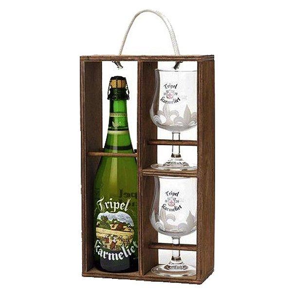 Kit Tripel Karmeliet 1gf 750ml + 2 copos