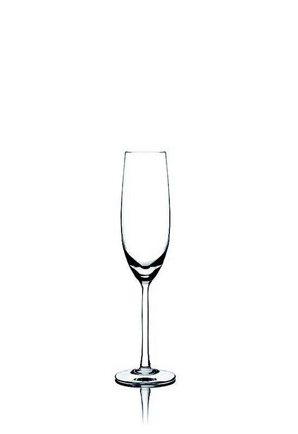Taça Cristal Blumenau Champagne Flute 200 ml (unitário)