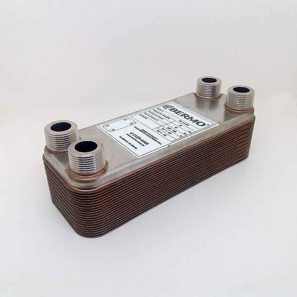 """Trocador de Calor 14-20 3/4"""" - 20 placas Inox brasado (Chiller)"""