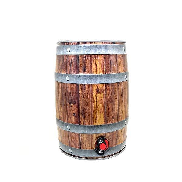 Mini Keg 5 litros cor madeira com torneira