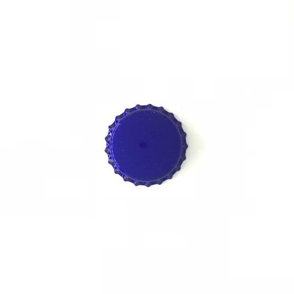 Tampinha para garrafas - 26mm - Azul Ciano Metálico