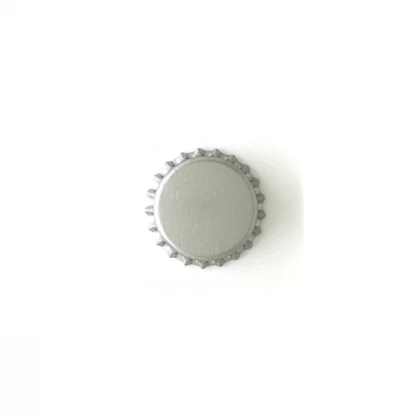 Tampinha para garrafas - 26mm - Prata - 100 uni.