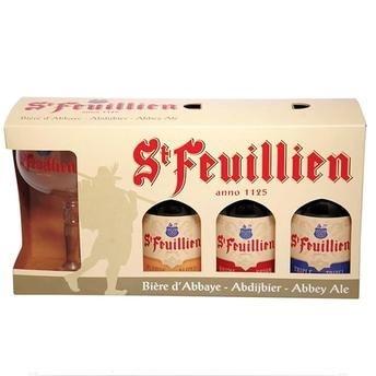 Kit Cerveja St Feuillien 3 GF + 1 Taça