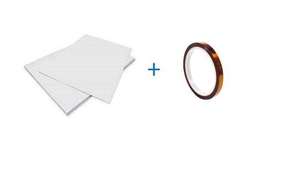 Papel Sublimático Solucione-Paper A4 90grs c/ 100 folhas + Fita Térmica