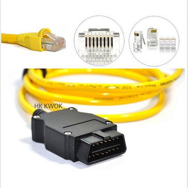 Cabo de interface BMW ENET (Ethernet para OBD) E-SYS ICOM