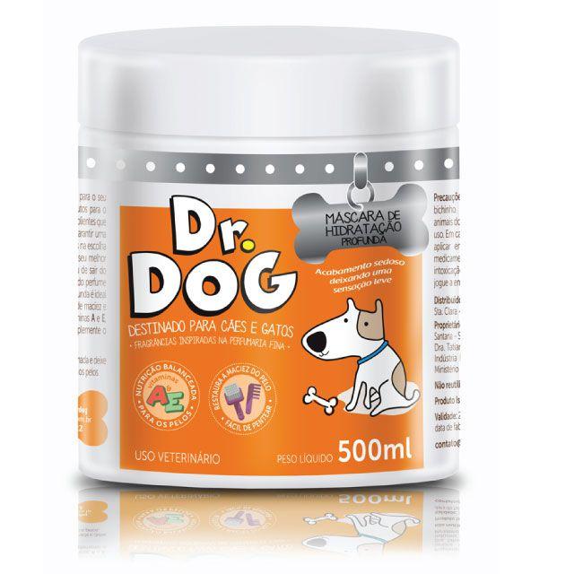 máscara de hidratação Pet Dr. Dog 500ml desmaio de fios