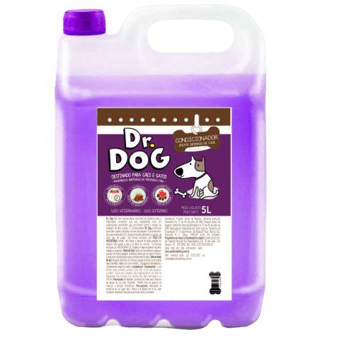 Condicionador Cães e Gatos Dr Dog 5L Desmaio de fios e secagem rápida