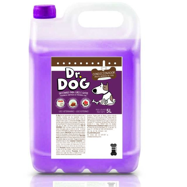 KIT Condicionador Pet Dr Dog 5L e Fluído desembolador 250ml