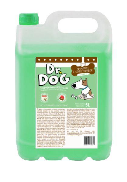 Shampoo e condicionador Pet Dr. Dog 5x1 5L - NOVO!