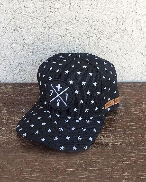Boné Mais 71 Estrelas Preto