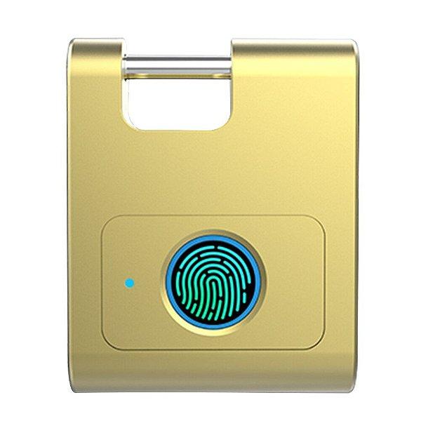 Cadeado 360 Biométrico Bluetooth de Liga de Zinco c/ Impressão Digital Inteligente - Pronta Entrega