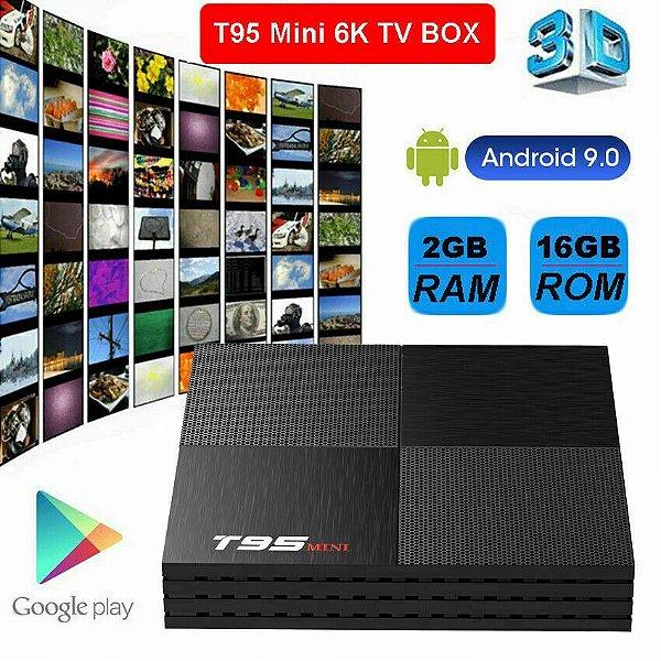 TV Box T95 Quad-Core 6K 2.4g Wifi Android 9.0 2GB/16GB 3D 2020