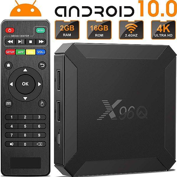 TV Box 4K X96Q 2020 2GB Memória Android 10.0 16GB HD - Pronta Entrega