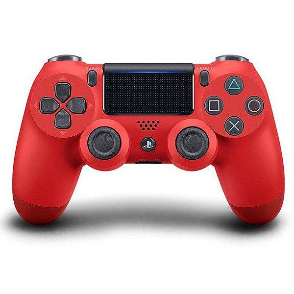 PS4 - Controle Sem Fio Dualshock 4 - Vermelho