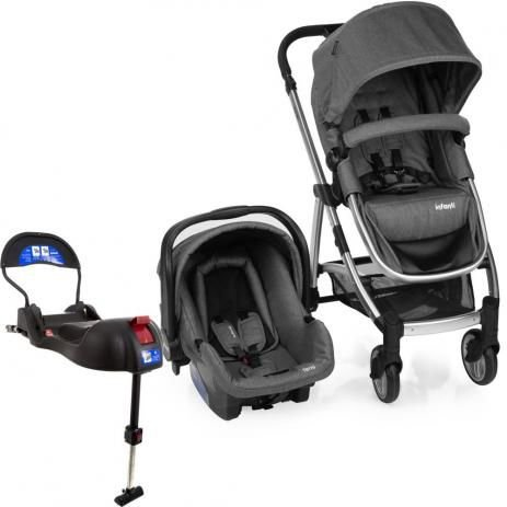 10bf2cf1d TRAVEL SYSTEM EPIC LITE TRIO ONIX PRETO INFANTI - DOREL - Baby Store