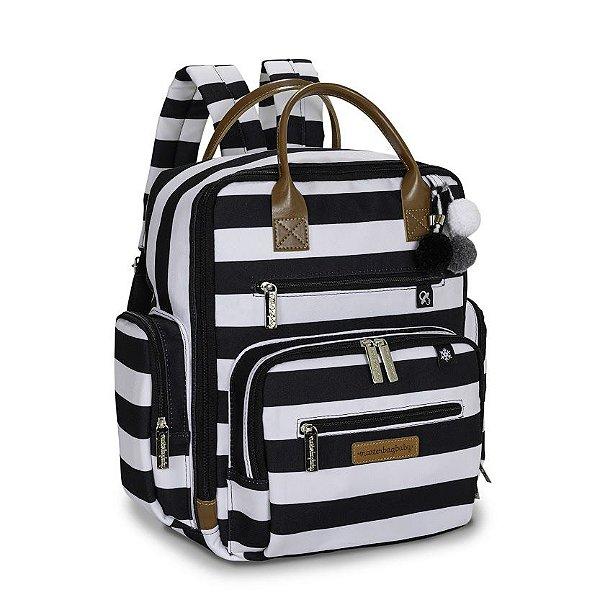 Mochila Maternidade Urban Brooklyn Black and White - Masterbag