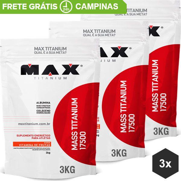 Combo Massa 3kg Max Titanium (9kg)