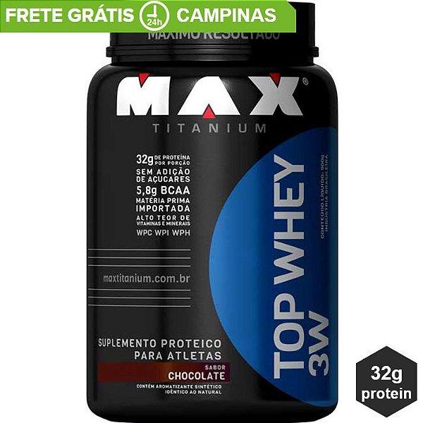 4f29b09c1 Top Whey 3w Max Titanium 900g - MR2 Suplementos Alimentares - Whey ...