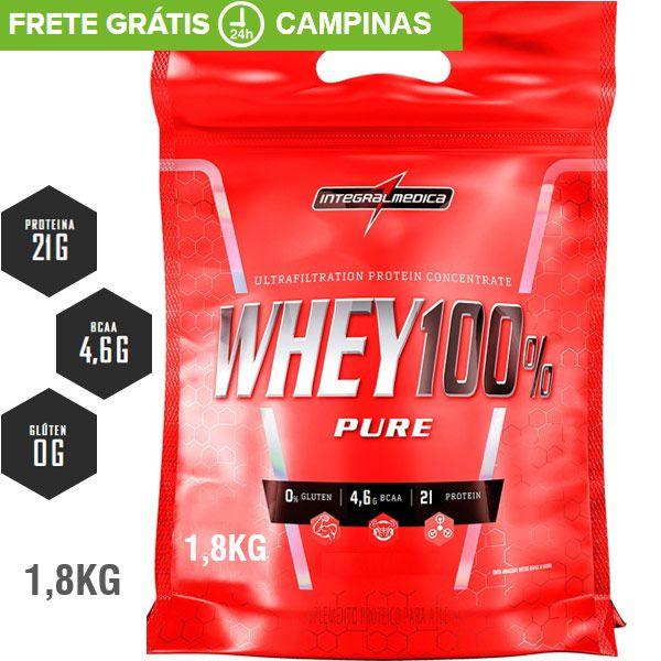 Refil Integralmedica Super Whey 100% Pure 1,8kg