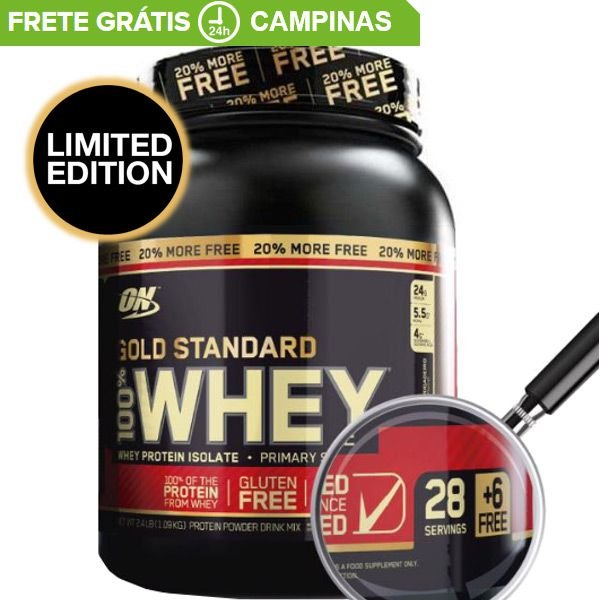 Whey Protein Optimum Gold 100% On 2,4lb 34 Doses​ (1,09kg)