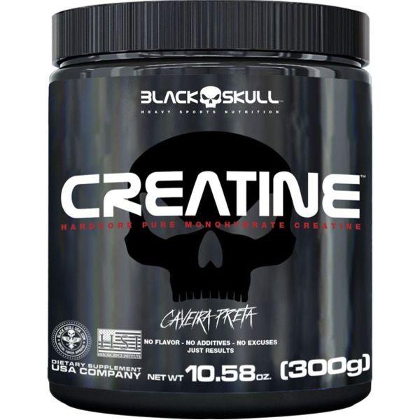 Creatine 300g Black Skull Caveira Preta