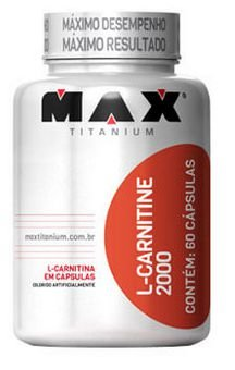 L-Carnitine 2000 - 60 capsulas - Max Titanium