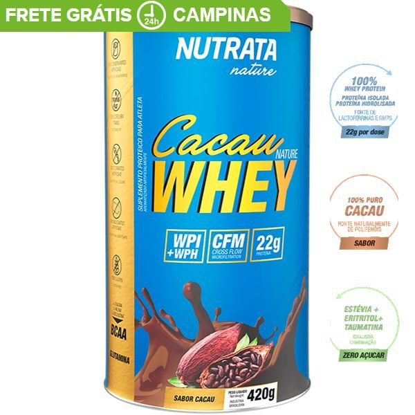 CACAU NATURE WHEY (450g) - Nutrata