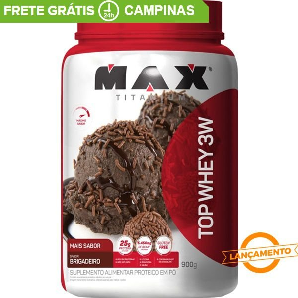 Top Whey 3W Mais Sabor (900g) - Max Titanium