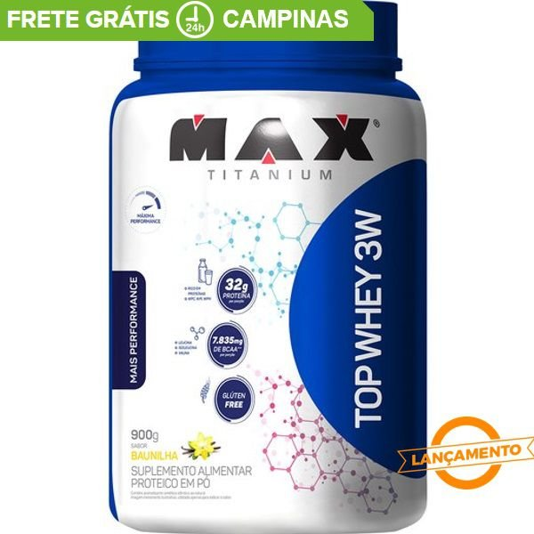 Top Whey 3W Mais Performance (900g) - Max Titanium