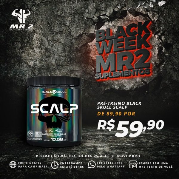 SCALP -PRE TREINO -150G - BLACK SKULL