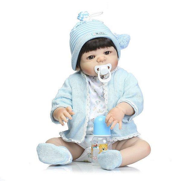 Bebê Reborn MENINO Gustavo 55 cm Silicone (PRONTA ENTREGA) - Bebê REBORN 25b2e4bb209