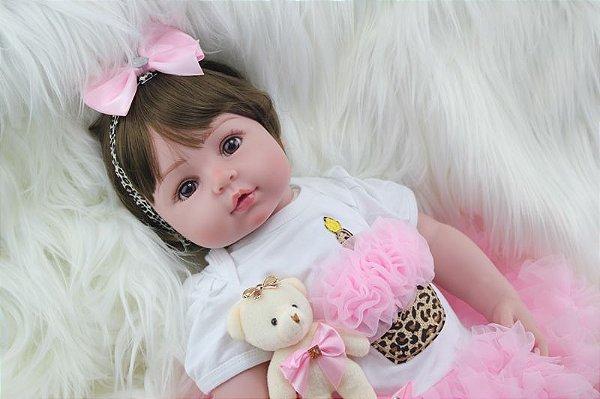 a3fdf9932 Boneca Bebe Reborn 55cm Valentina - Bebê REBORN