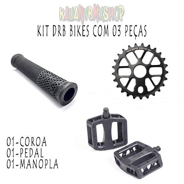 Kit de peças drb bikes escolha a cor do seu kit pedal coroa e manopla