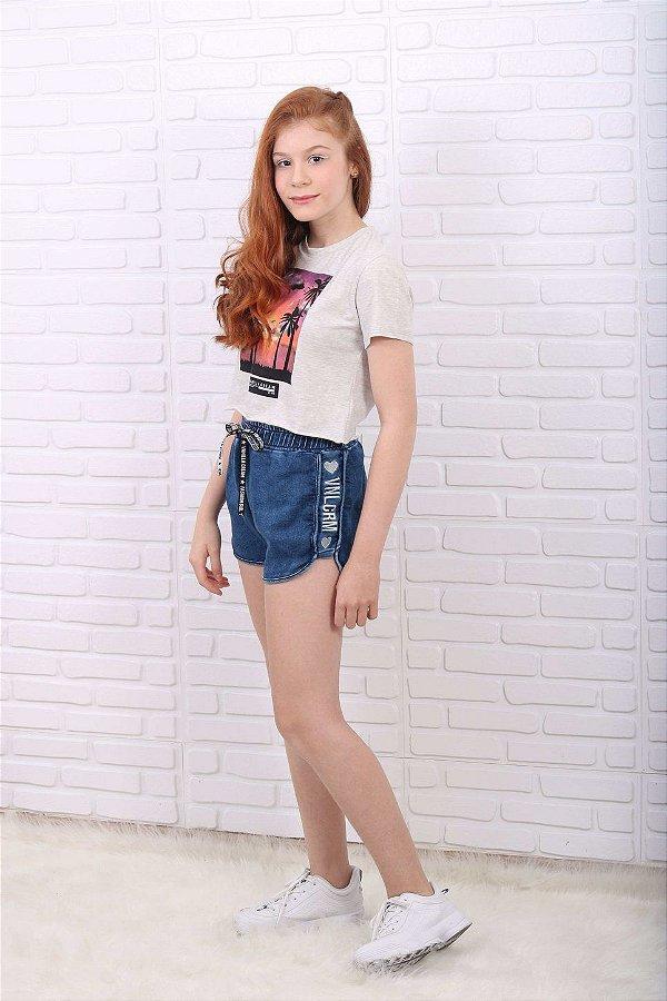 T-Shirt teen Vanilla Cream sunset cinza