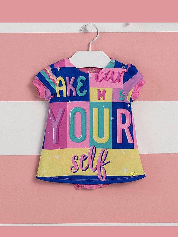 Vestido de bebê Mon Sucré body verão colorido