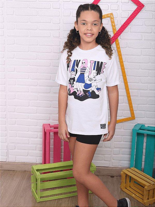 T-shirt teen Vanilla Cream camisetão branca tumblr