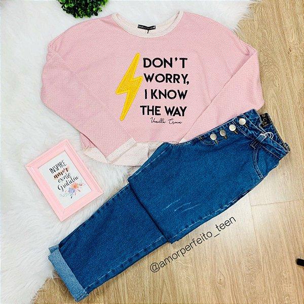 Blusa de Moletom teen tumblr cropped amplo raio e frase Vanilla Cream Tam 16