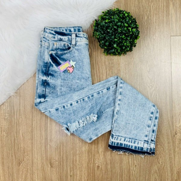 Calça jeans feminina skinny destroyed cool Vanilla Cream