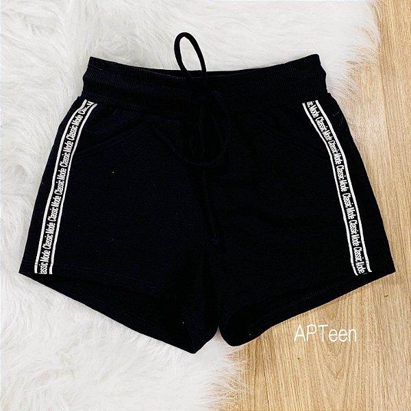 Shorts de moletom teen Catbalou classic mode preto