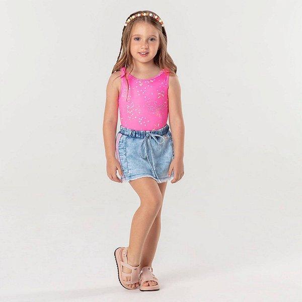 Body infantil Mon Sucré candy summer rosa neon