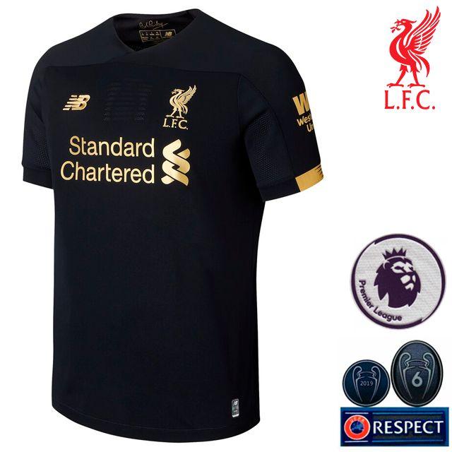 Camisa Liverpool I Goleiro 2019 2020 Torcedor Masculina Vista Esportes