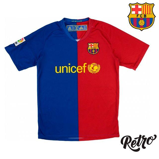 Camisa Retro Barcelona I 2008 2009 Torcedor Masculina Vista Esportes