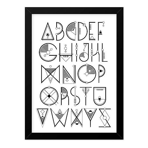 Quadro A4 Alfabeto