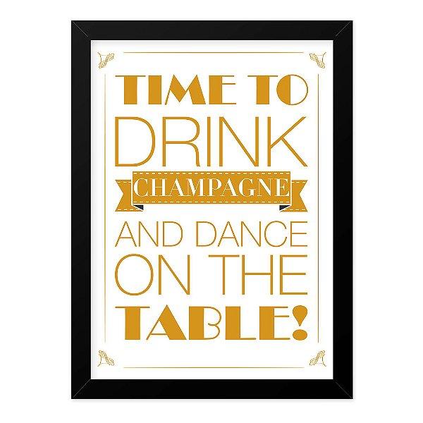 Quadro A4 Champagne