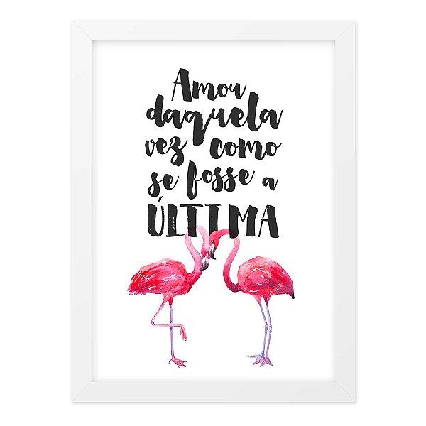 Quadro A4 Flamingo Amou